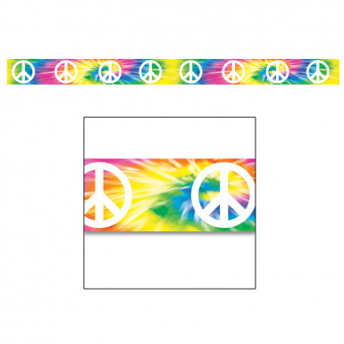 Guirlande multicolore en plastique Peace