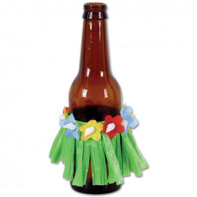 4 Décorations de bouteilles jupes Hula