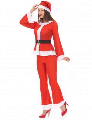 Déguisement Mère Noël adulte pantalon-1
