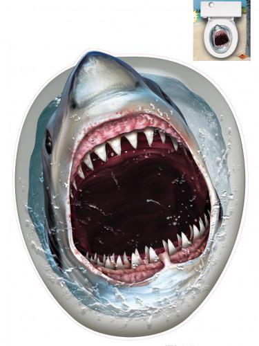 Décoration requin cuvette des toilettes