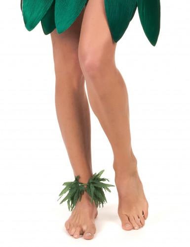 Bracelet poignet ou cheville feuilles tropicales-1