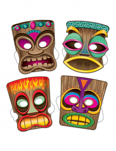 4 Masques Tiki