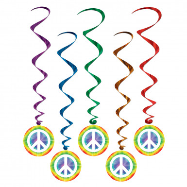 5 Décorations à suspendre Hippie Peace
