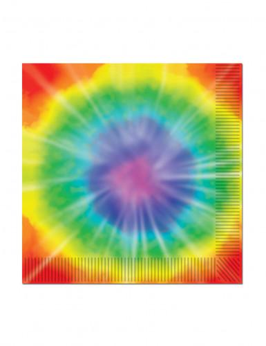 16 Petites Serviettes en papier Hippie 25 x 25 cm