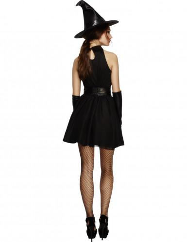 Déguisement sorcière noire sexy femme Halloween-1