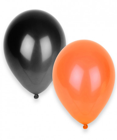 100 Ballons orange et noirs Halloween