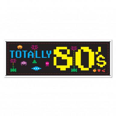 Bannière décoration 80's