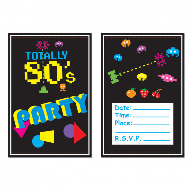 8 Invitations Années 80's