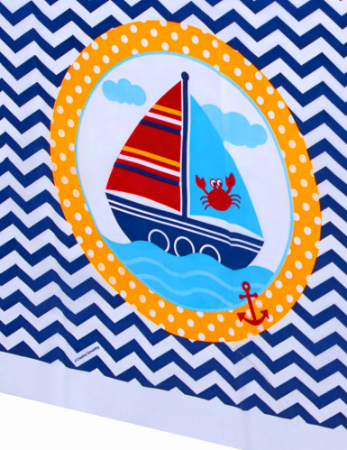 Nappe en plastique Mon petit marin 130 x 260 cm-1