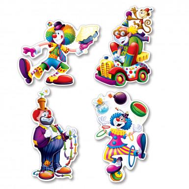 4 Décorations Clown