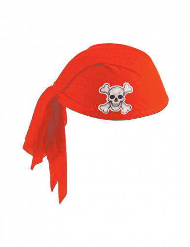 Chapeau bandana rouge en polyester Pirate adulte