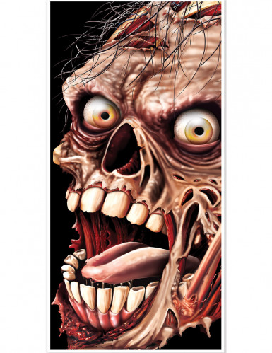 Décoration de porte Zombie Halloween