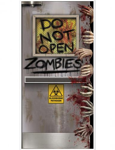 Décoration de porte Laboratoire Zombie Halloween