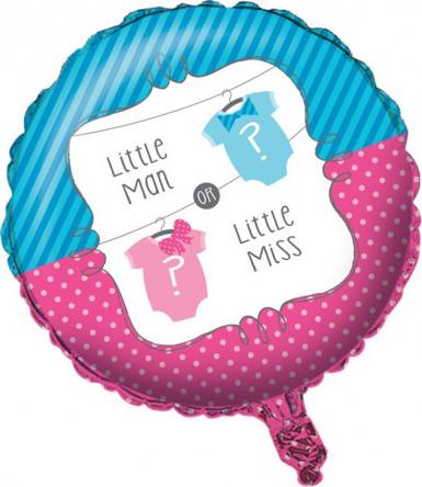 Ballon aluminium Baby Shower Fille ou Garçon 46 cm
