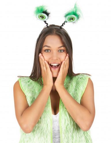 Serre tête globes oculaires verts-1