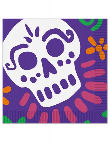 16 Serviettes en papier Dia de los Muertos