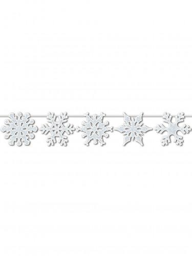 Guirlande Flocons de neige à paillettes