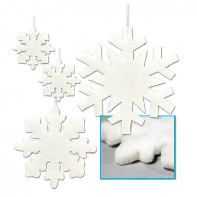 4 Décorations à suspendre flocons de neige