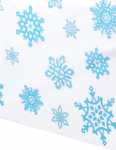 Nappe plastique Flocons de neige-1
