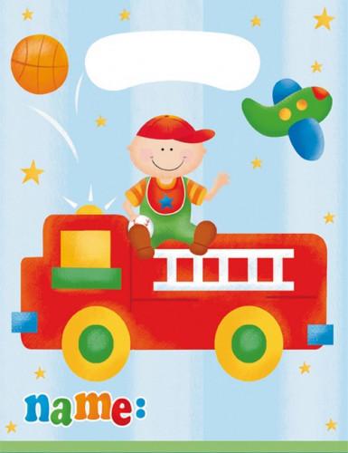 8 Sacs cadeaux Petit camion 1er anniversaire