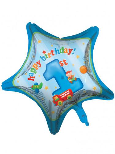 Ballon aluminium Petit camion 1er anniversaire 46 cm