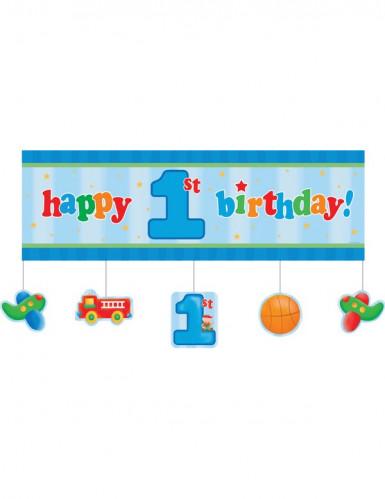 Bannière Petit camion 1er anniversaire 152 x 50 cm