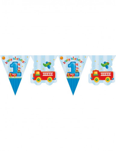 Guirlande fanions Petit camion 1er anniversaire