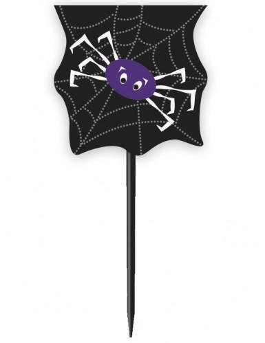 24 Moules à cupcakes avec pics Toile D'araignée Halloween-1