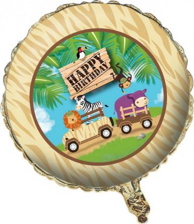 Ballon aluminium anniversaire Safari aventure 46 cm