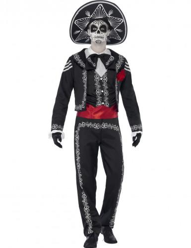 Déguisement squelette mexicain homme Halloween