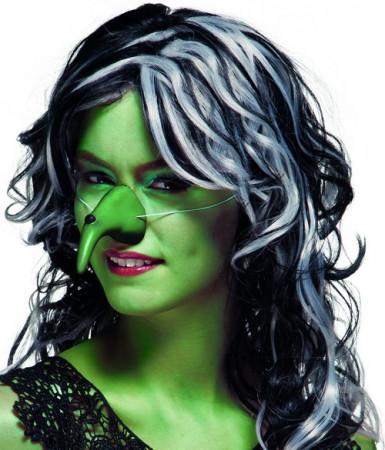 Nez sorcière vert adulte Halloween