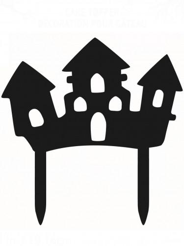 Décoration pour gâteau Maison Hantée Halloween