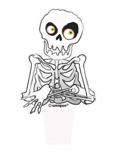 12 Décorations pour cupcakes Squelette Halloween