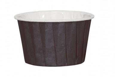 16 Petits pots en papier noir