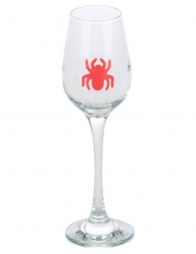 6 Adhésifs décoratifs de verre araignées Halloween-1