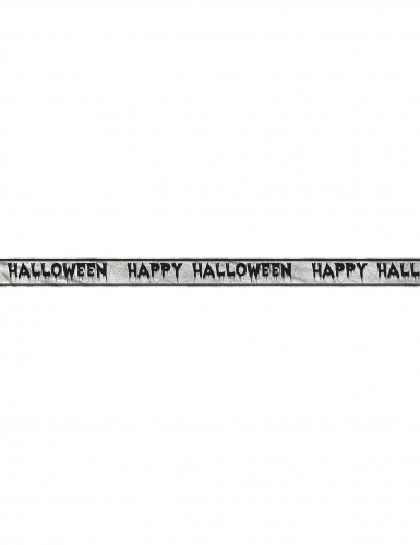 Bannière Happy Halloween Toiles d'araignées