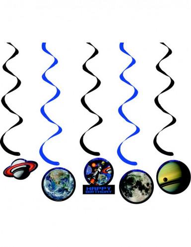 5 Décorations à suspendre anniversaire de l'espace 91 cm