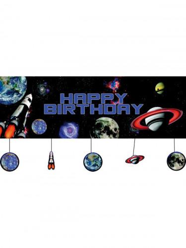 Bannière anniversaire de l'espace 50 x 152 cm