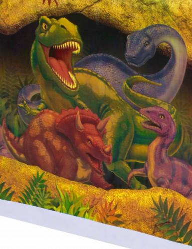 Nappe en plastique Anniversaire Dinosaures 137 x 274 cm-1