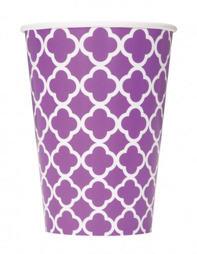 6 Gobelets en carton Grafik violet 355 ml
