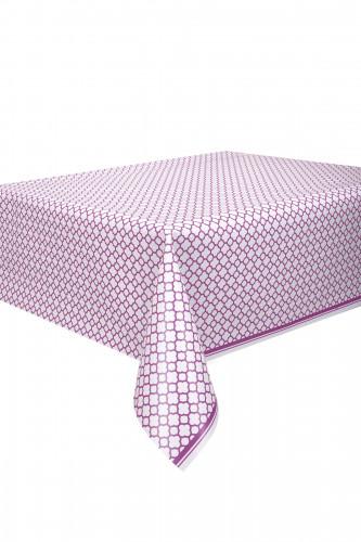 Nappe en plastique Grafik violet 137 x 274 cm