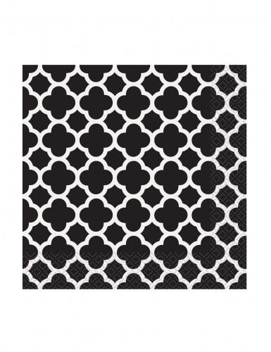 16 Petites Serviettes en papier Grafik Noir 25 x 25 cm