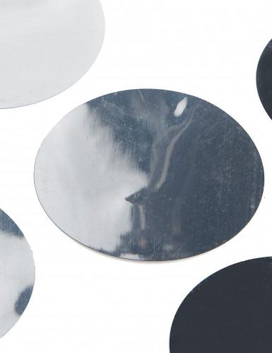 6 Confettis de table géants argent 9 cm-1