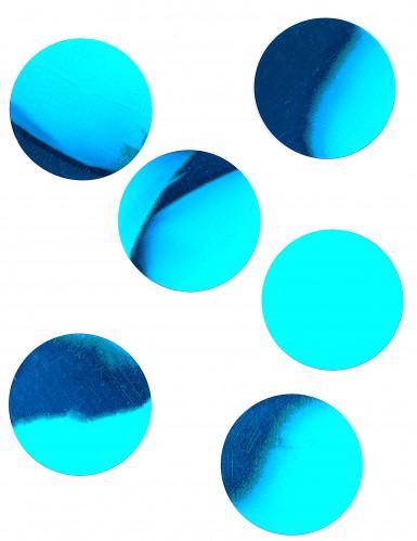 6 Confettis de table géants turquoise brillant 9 cm
