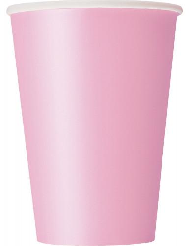 10 Gobelets en carton rose clair 284 ml