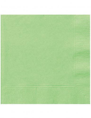 20 Serviettes en papier Vert pomme 33 x 33 cm