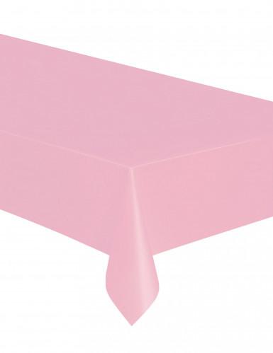 Nappe rose clair en plastique 137 x 274 cm