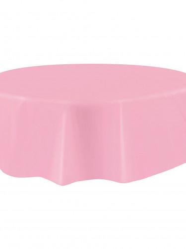 Nappe ronde en plastique rose clair 213 cm-1
