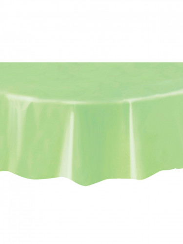 Nappe ronde en plastique vert pomme 213 cm