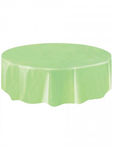 Nappe ronde en plastique vert pomme 213 cm-1